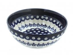 Blue Rose Polish Pottery Small Dots Utensil Jar