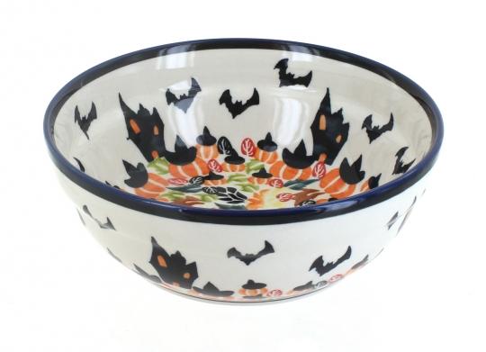 Blue Rose Polish Pottery Reindeer Pine Cereal//Soup Bowl