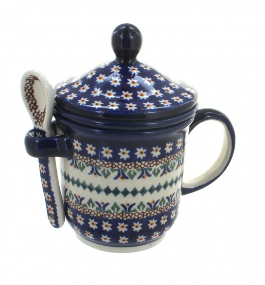 Mug with Strainer and Spoon