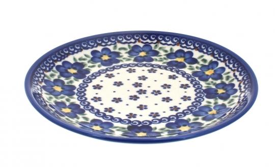 Blue Rose Polish Pottery Peach Blossom Dessert Plate