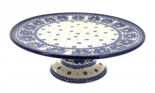 Spring Blossom Pedestal Cake Plate  sc 1 st  Blue Rose Pottery & Blue Rose Polish Pottery | Spring Blossom Pedestal Cake Plate