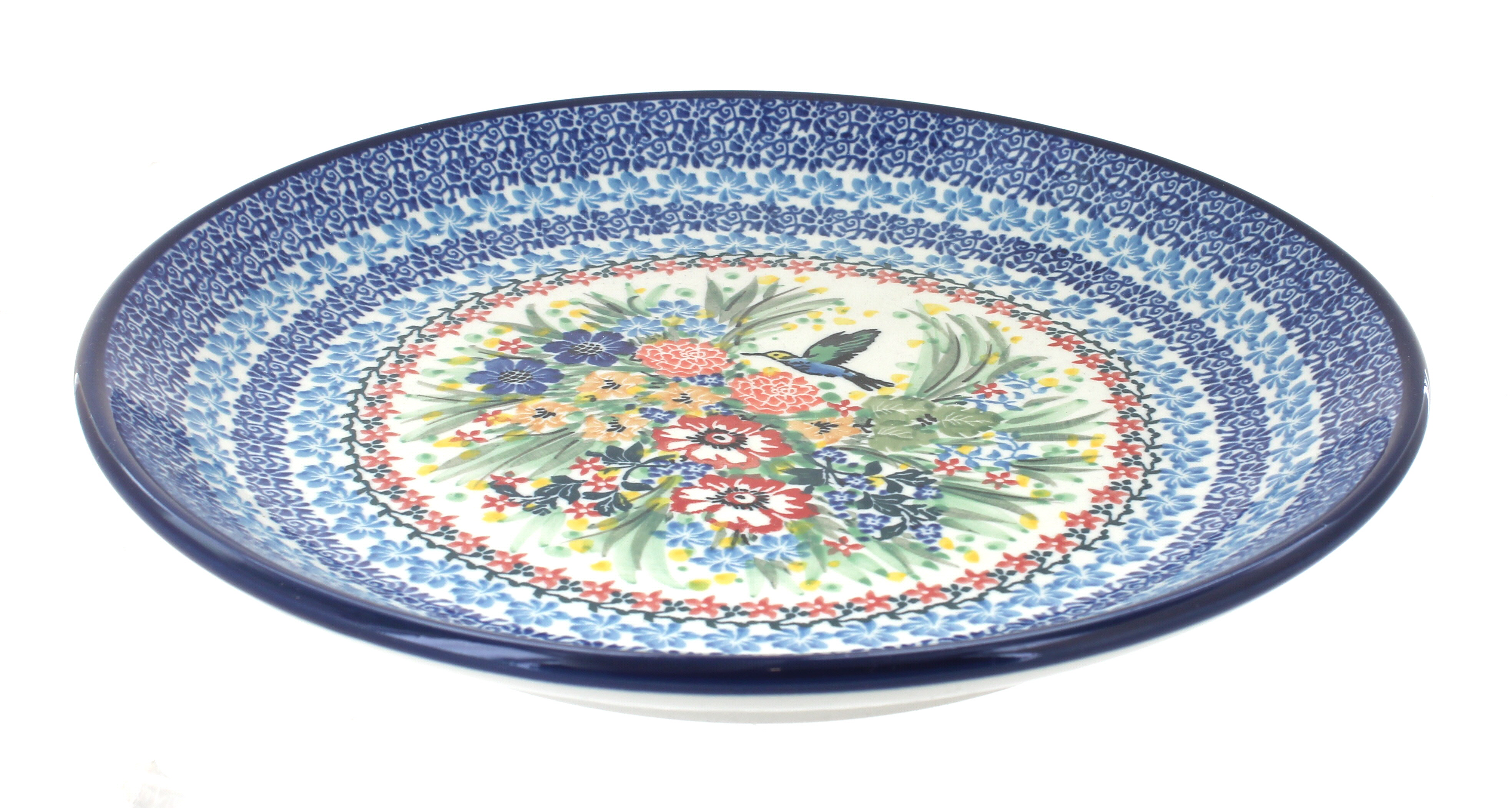 Blue Rose Polish Pottery Hummingbird