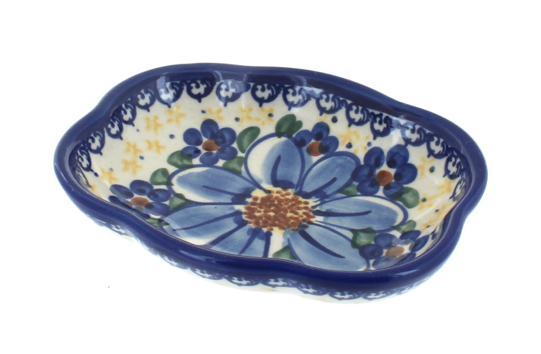Blue Rose Polish Pottery | Daisy Surprise Soap Dish