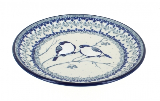 Blue Rose Polish Pottery Bluebird Dessert Plate Adorable Polish Pottery Patterns
