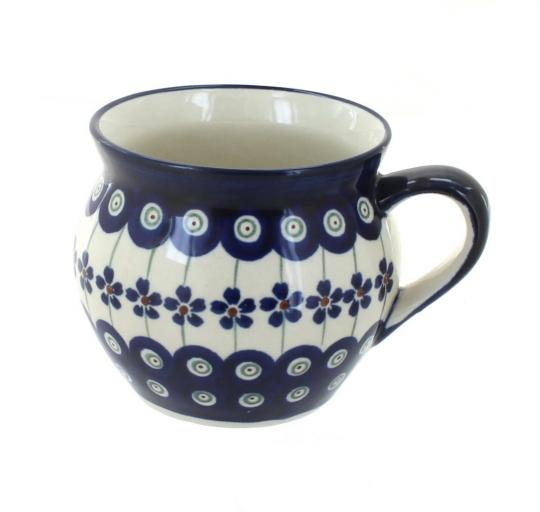 Zaklady Blue Rose Polish Pottery Flowering Peacock Medium Canister