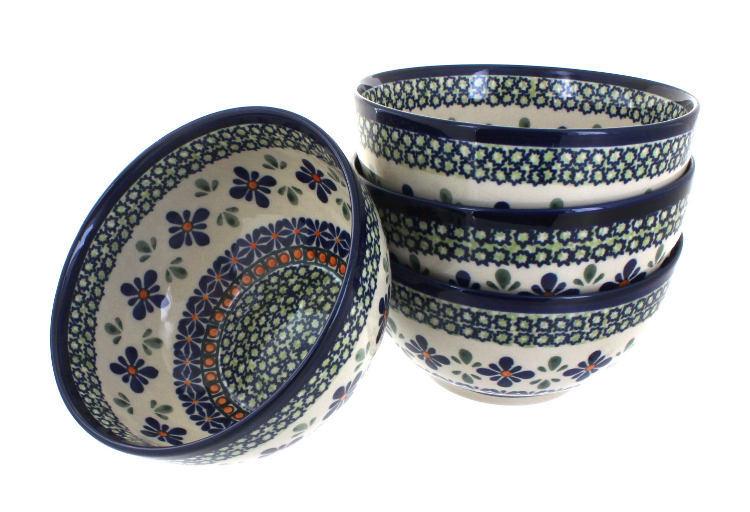 4pc Dessert Bowl Set  sc 1 st  Blue Rose Pottery & Blue Rose Polish Pottery | Dinnerware