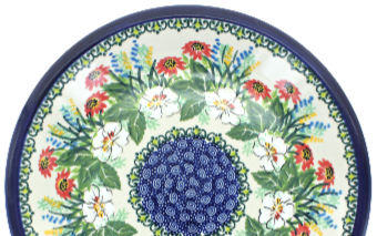Signature UNIKAT Polish Pottery 6-inch Heater Certificate of Authenticity Poppy Passion Theme