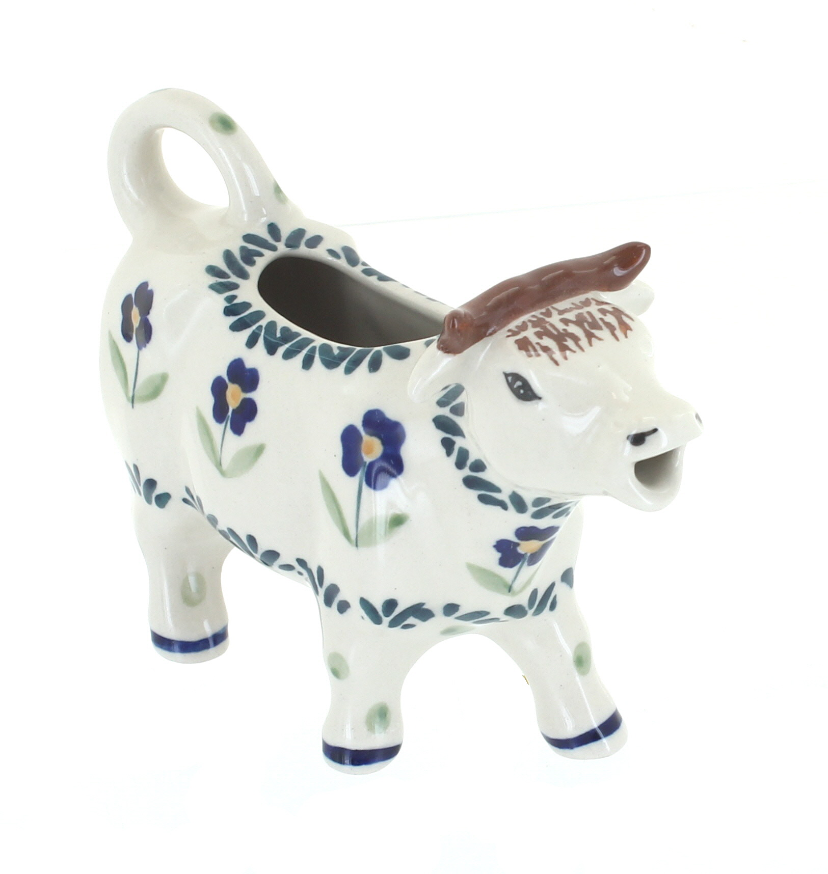 Blue Rose Polish Pottery Alyce Cow Creamer /& Sugar Set