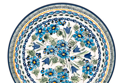 Blue Rose Polish Pottery Signature Series Unikat Extraordinary Polish Pottery Patterns