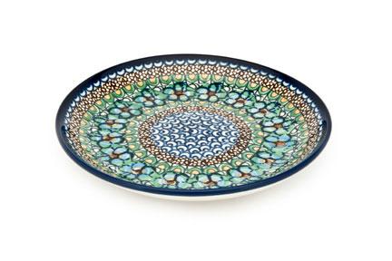Blue Rose Polish Pottery Mardi Gras Dessert Plate
