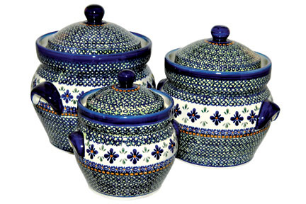 Mosaic Flower Large Canister Set