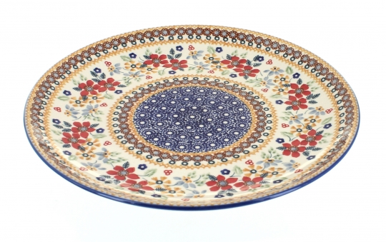 Red Daisy Large Dinner Plate  sc 1 st  Blue Rose Pottery & Blue Rose Polish Pottery | Red Daisy Large Dinner Plate