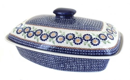 Blue Rose Polish Pottery Bakeware