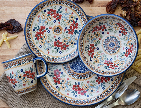 Dinnerware & Blue Rose Polish Pottery | Dinnerware