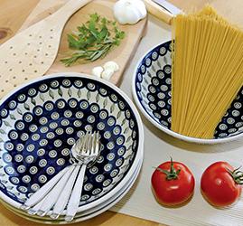 Shop 4 Piece Large Salad Bowl Set  sc 1 st  Blue Rose Pottery & Blue Rose Polish Pottery   Dinnerware
